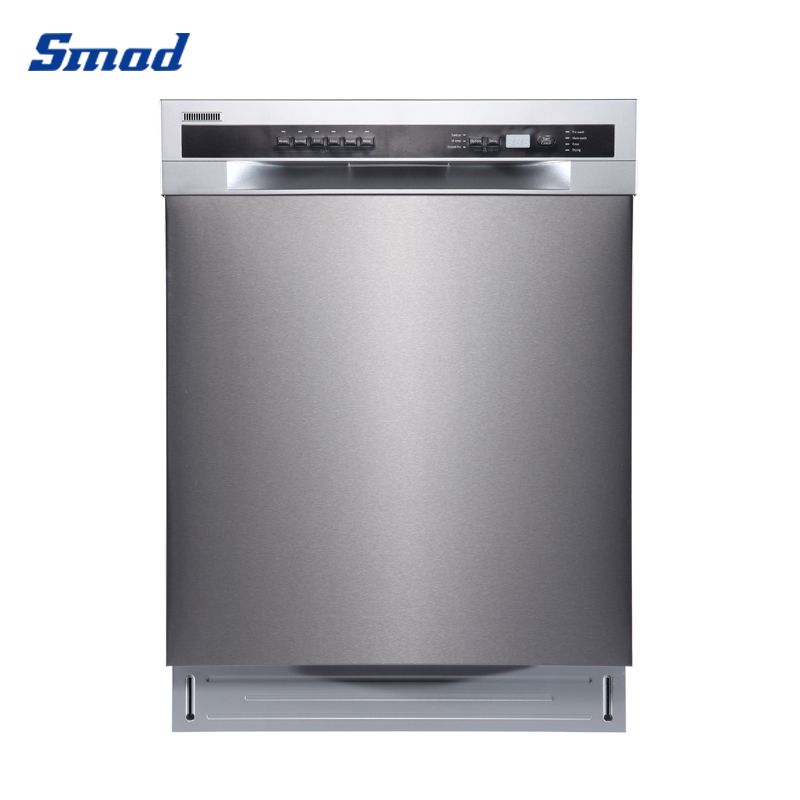 Smad 24'' professional built-in dishwasher front control dishwasher quiet