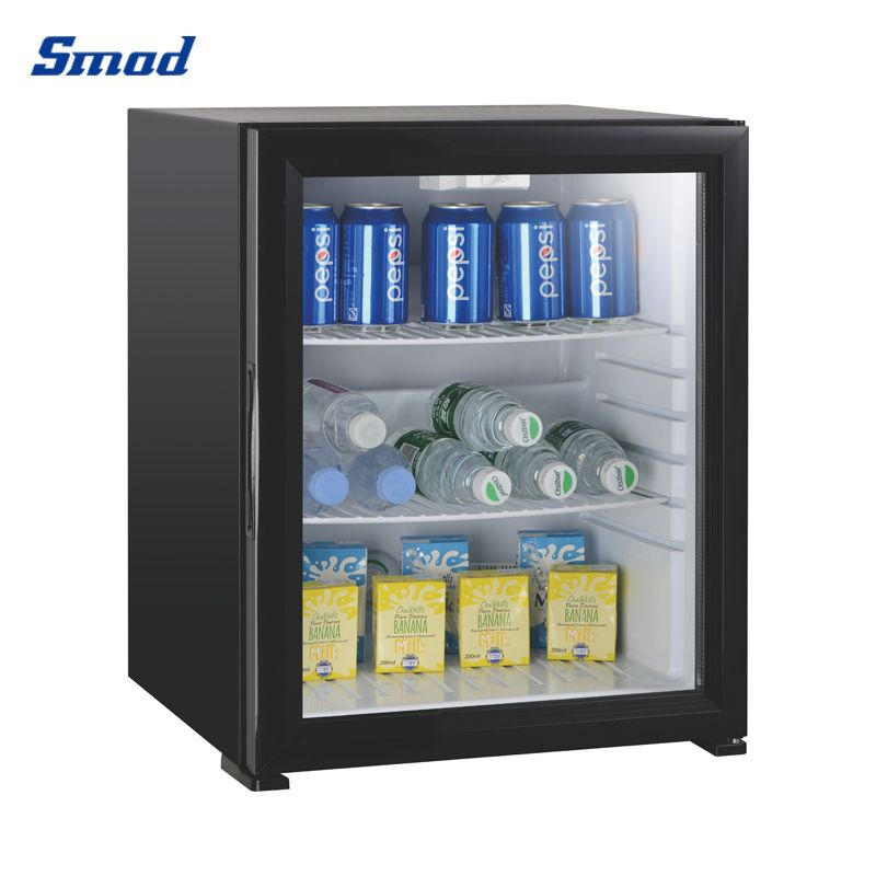 Smad 12V mini absorption fridge with glass door high quality in your home and completely quiet