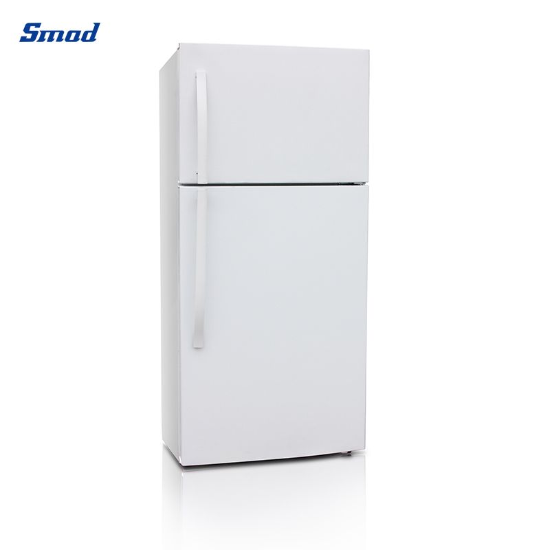 Smad 2 door refrigerator white and stainless steel