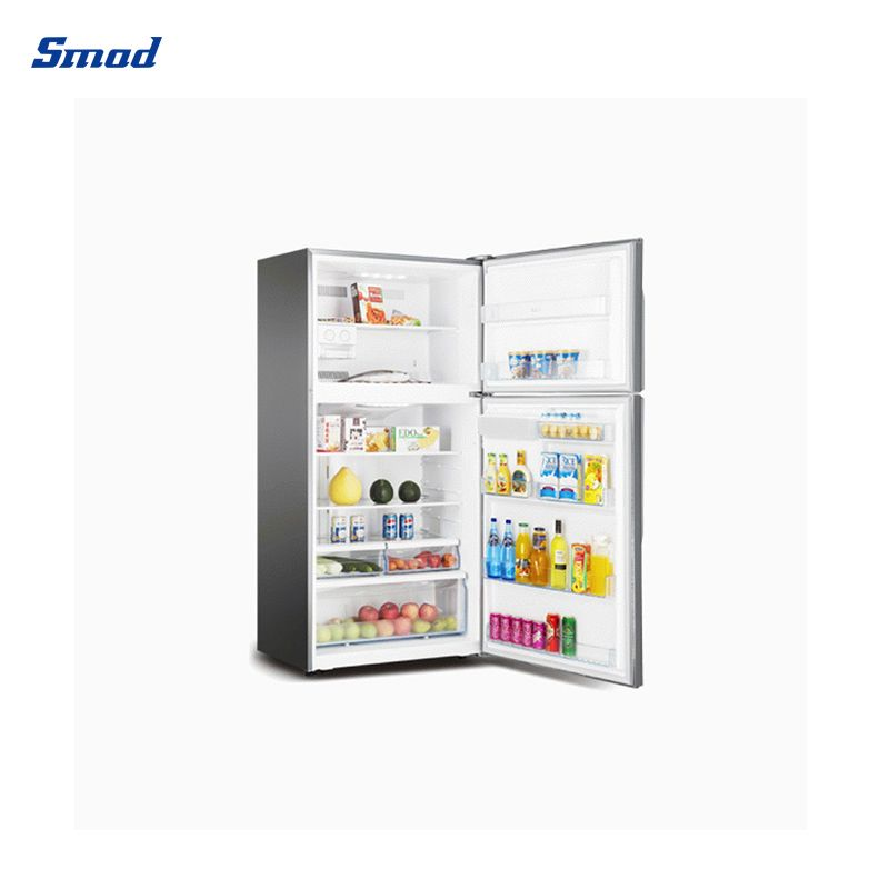 Smad 545L no frost top freezer refrigerator with water dispenser stainless steel