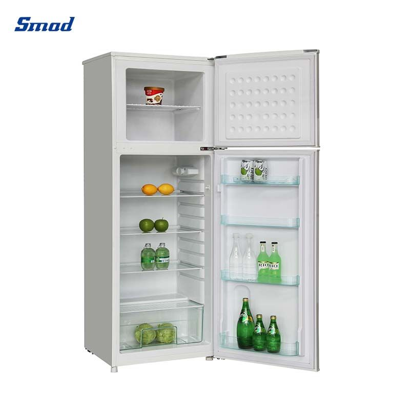 Smad 280L best household double door top freezer refrigerator with big freezer capacity for daily useage