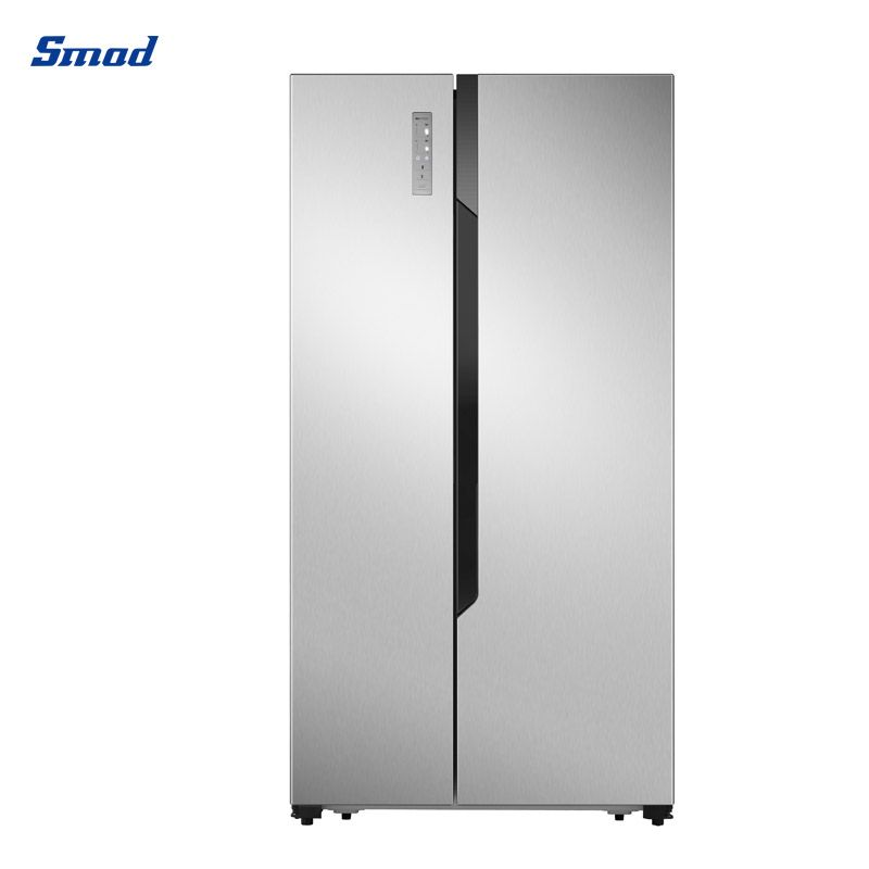 Smad 19 cu.ft side by side refrigerator for sale flat door with Recessed handle