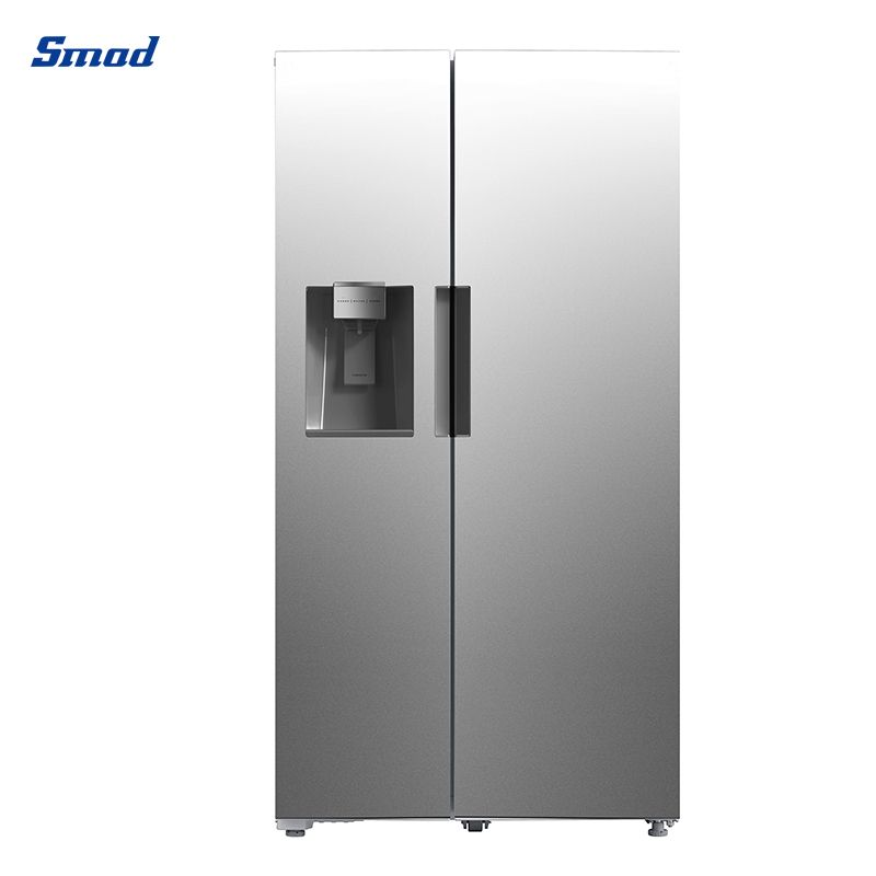 Smad UL 26.3 Cu.ft side by side refrigerator freezer 90°door open feasibility