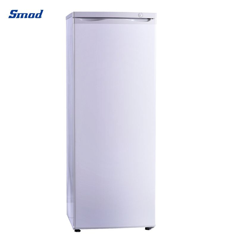 Smad 216L best single door upright freezer with 8 drawers white and stainless