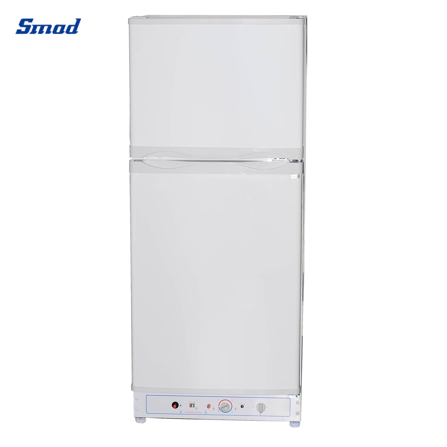 Smad gas refrigerator side with recessed handle white color