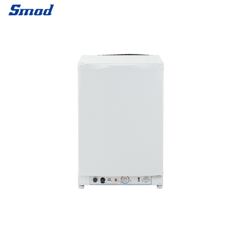 Smad 100L whtie gas 12v propane 3 way fridge with freezer section