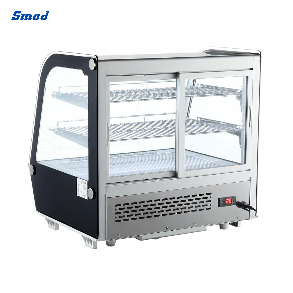 Smad cake display cooler showcase with 2 layer adjustable