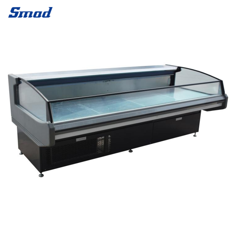 Smad 221L 2.6m commercial exposure service cabinet fresh meat showcase counter chiller